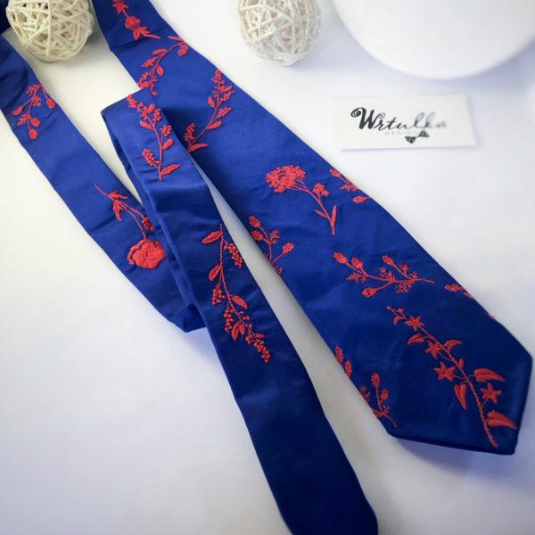 Luxusná vyšívaná kravata