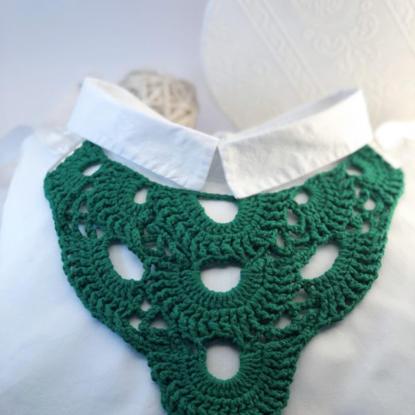 Henrieta háčkovaný náhrdelník – stredný