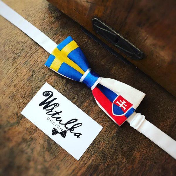 Ručne maľovaný motýlik švédsko – slovenský